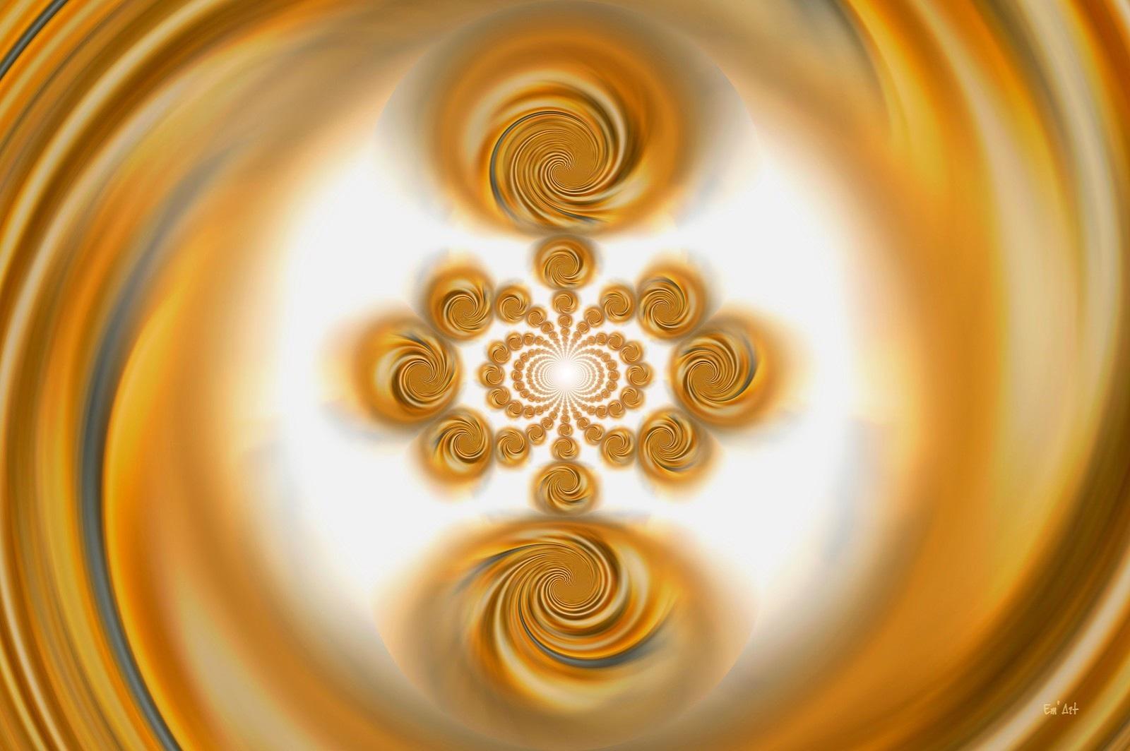Univers fractal, art numérique abstrait par Em'Art 30 x 45 cm.