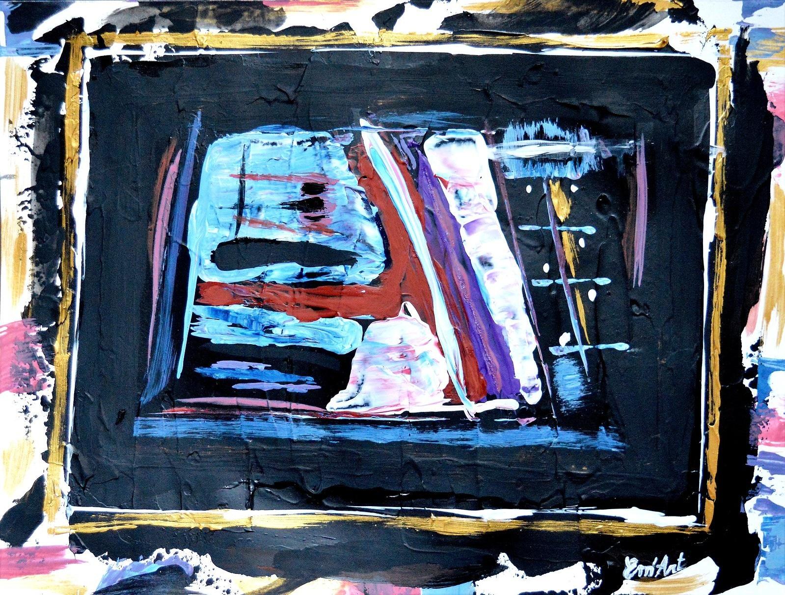 Miroir, acrylique abstraite par Em'Art