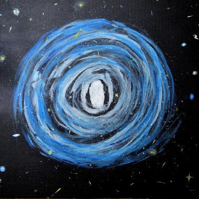 Message cosmique 40x50 10mo